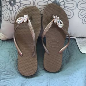 Havaiana flip flop with crystal embellishment